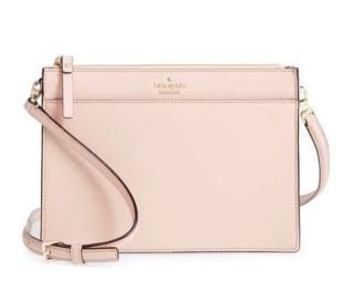 a black pink bag