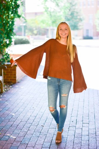 a fall trend bell sleeve