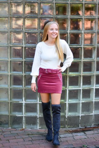 a fall trend over the knee