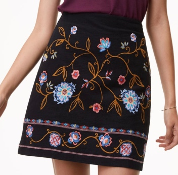 aa embriodery skirt